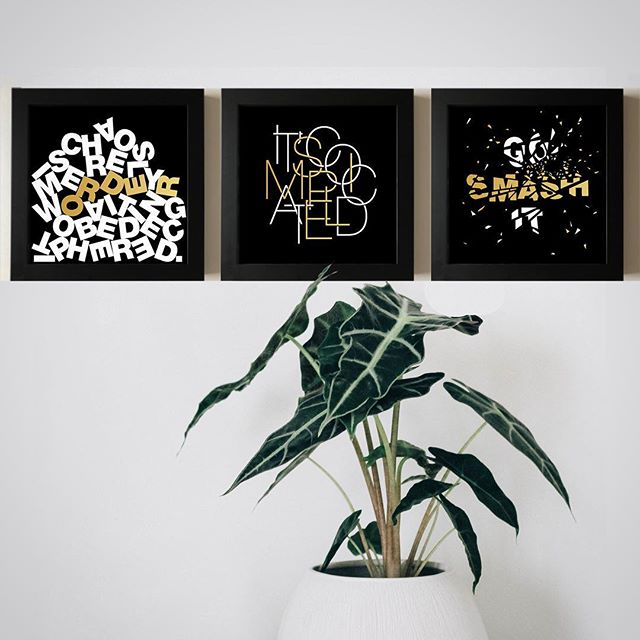 Excited to introduce the latest addition to our prints collection... These Black & Gold Motivational Quotes prints are bold yet chic, a great addition to a gallery wall or a final touch to a side table. . Chaos & Order It's Complicated / Simple  Go Smash It . Available as single framed print and set of 2 or 3 prints. . #thehouseofmischief #thom #blackandgold #goldprint #motivationalquotes #itscomplicated #smashit #chaosandorder #chaos #order #simple #modernhome #interiordetails #interiorlovers #gallerywall #gallerywallinspo #dailydecordetail #decoratemyhome