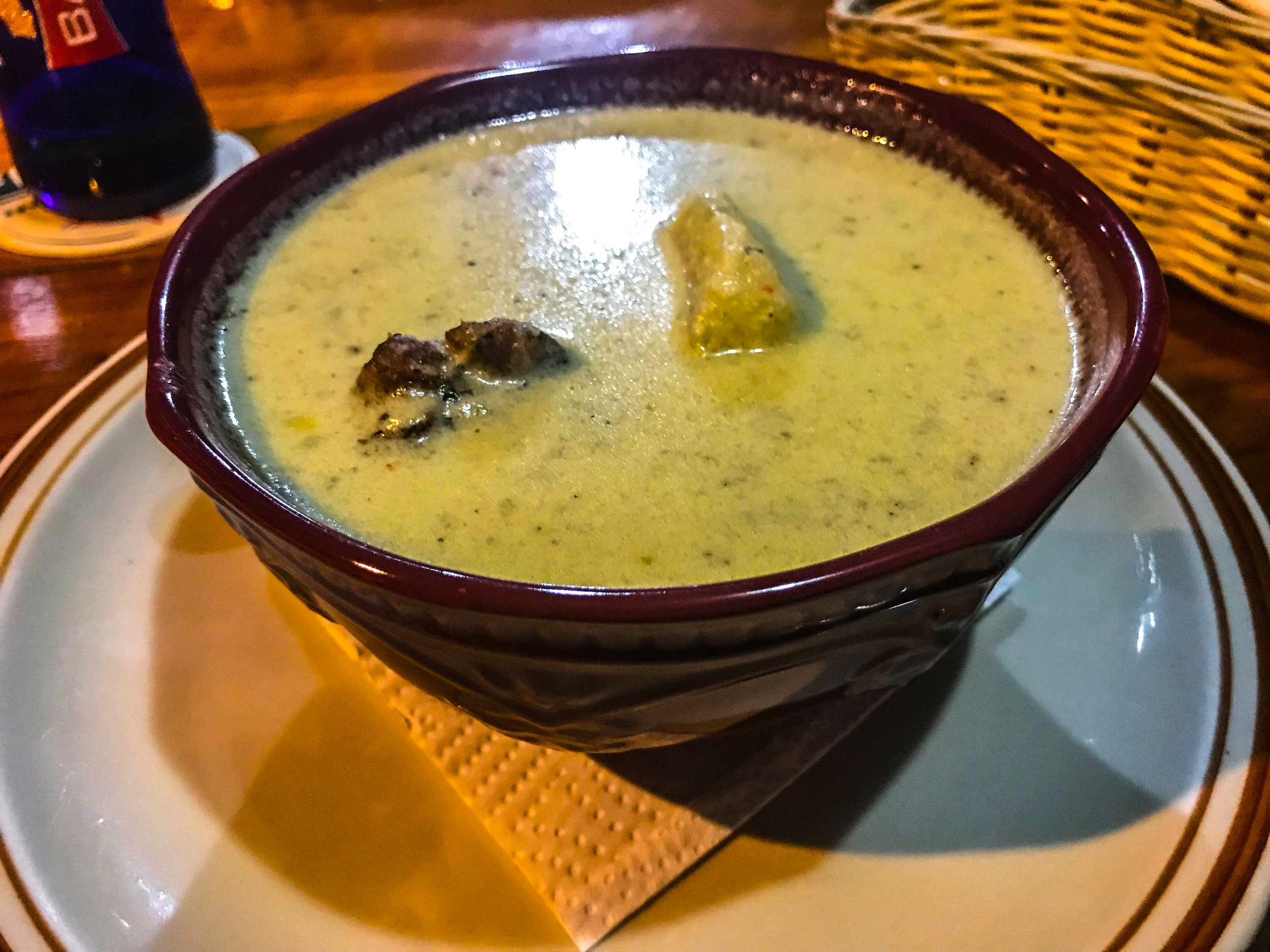 Rondón is a popular coconut milk soup. - Most restaurants only make it once per week.