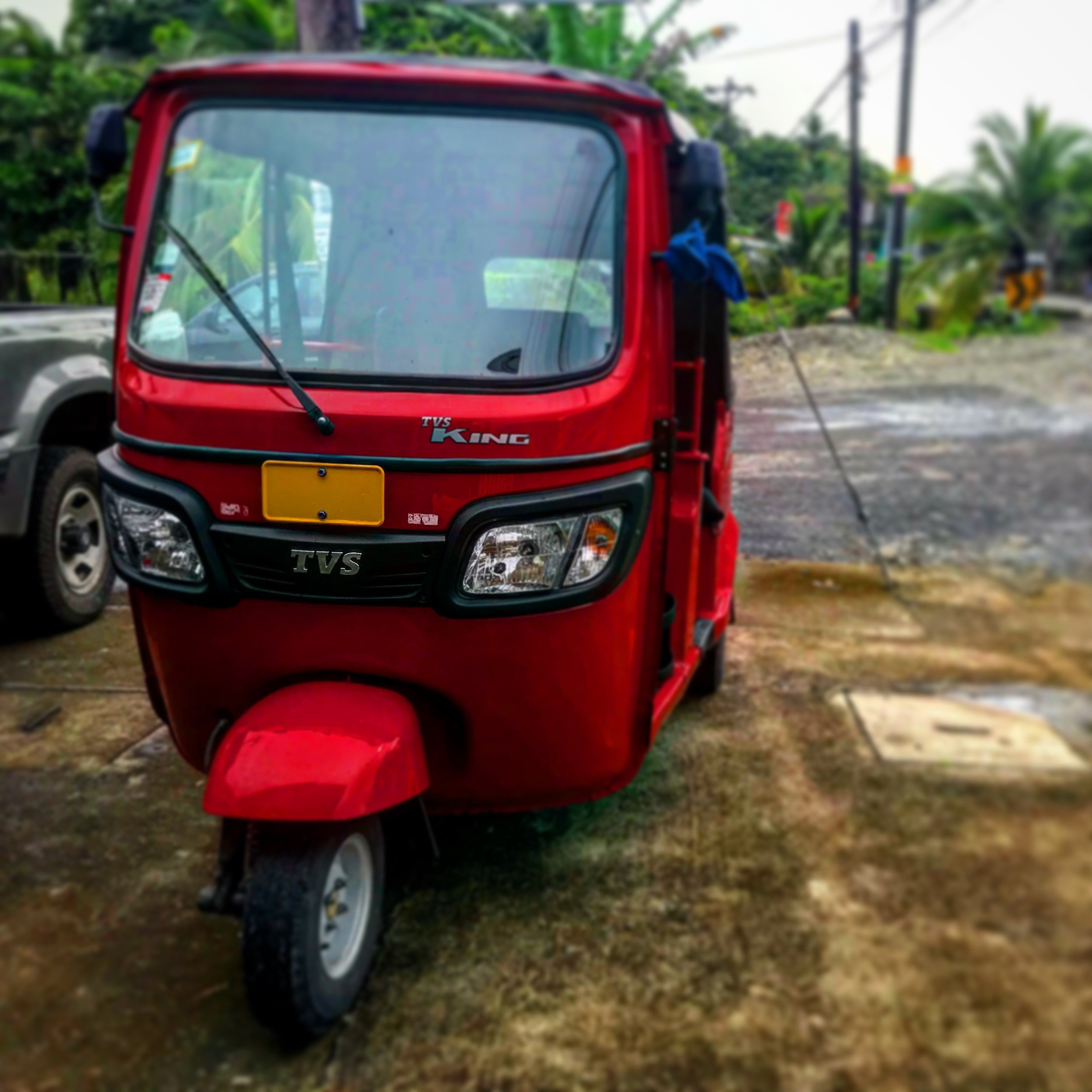 Don't Drink and Drive. Take a Coco Taxi instead. - This red coco taxi is one of the most unusual cabs in Costa Rica.