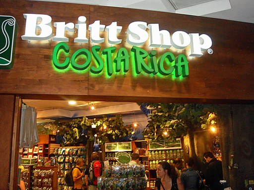 Cafe Britt's Gift Shop - Visitors arriving at SJO airport are greeted by this shop.