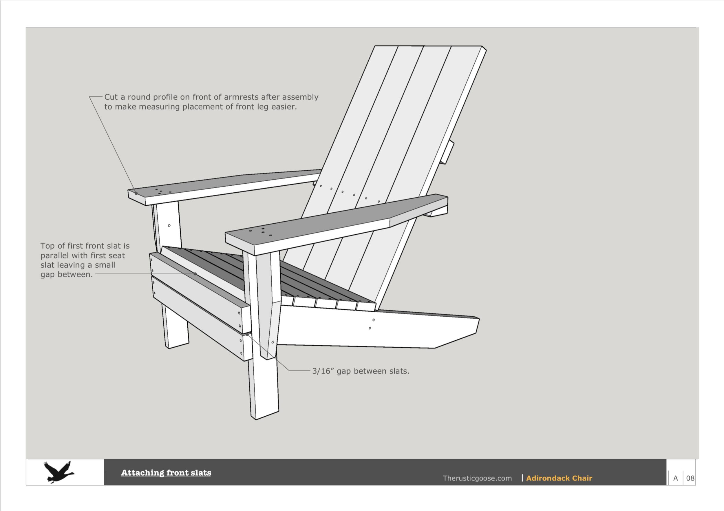 Complete Set Adirondack Furniture Plans The Rustic Goose
