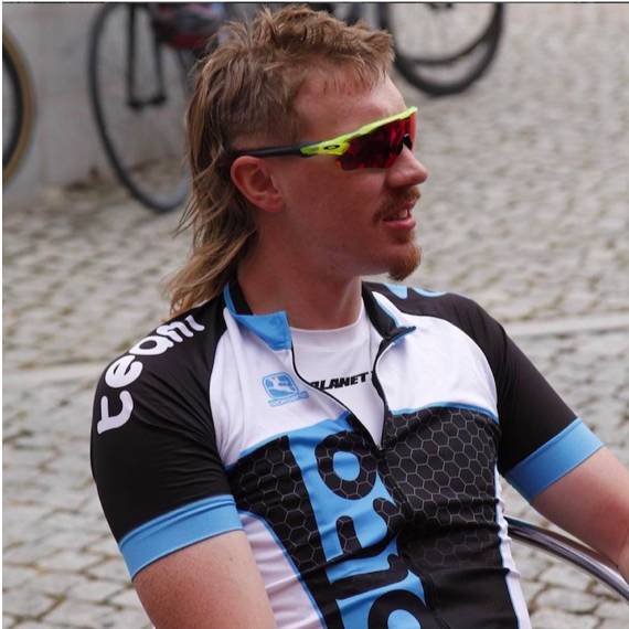 James Mcmillan (Suffolk, UK)  James, AKA The Kiwi Mullet, is New Zealand born and UK based. He is hard to miss with his absolutely epic mullet and his all out passion and love for cycling.