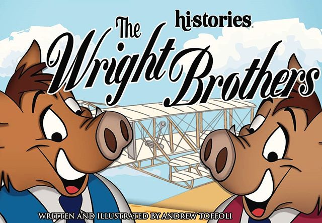 Today marks the 115th anniversary of the Wright brothers first flight! A monumental day to celebrate with Wilboar and Boarville Wright! . . . . . . . . . . .#Wrightbrothers #wilboar #BoarvilleWright #aviation #aviationhistory #firstaviationflight . #Sunsetinternationalmdcps #family #community #education #elementaryillustration #book club #booklovers #reading #firstgrade #elementaryteacher #author #illustration #childrensbooks #historyeducation #elementaryart . #elementaryillustration #cartoons #historycartoon #creativebiography #creativeteachers #teachersgoals