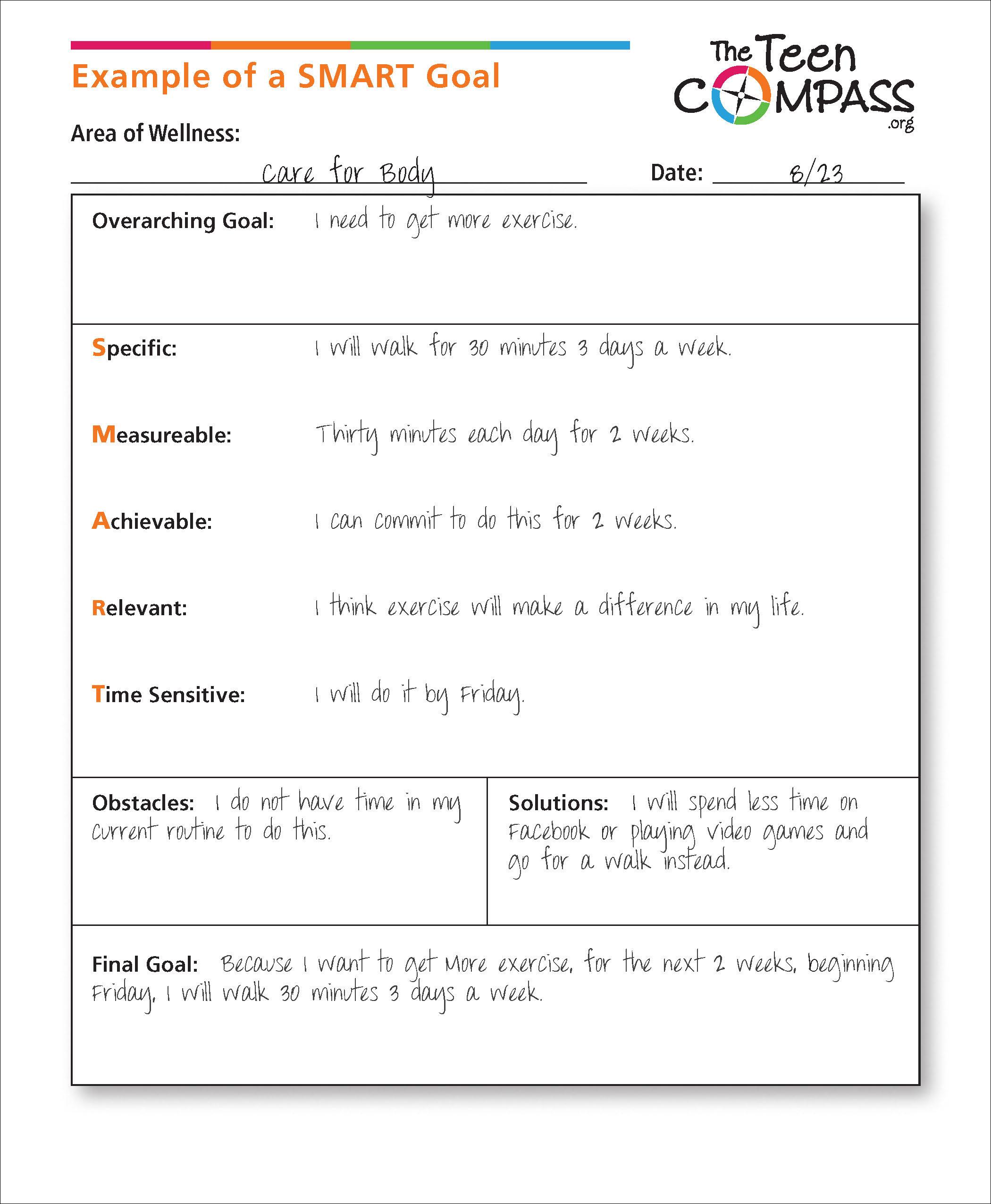 SMART Goals - Samaritan Family Wellness