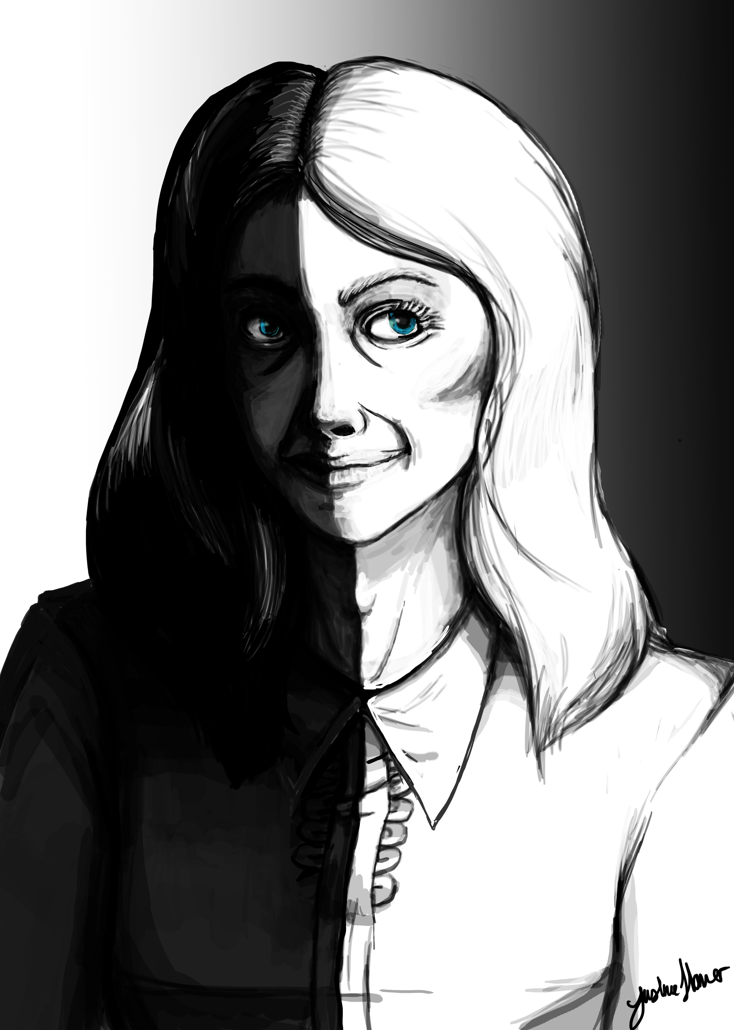 This sketch of the character Felix Mortimer was developed in the mind of the well known American digital artist Justine Hamer. Justine was also responsible for Emily's cover art.