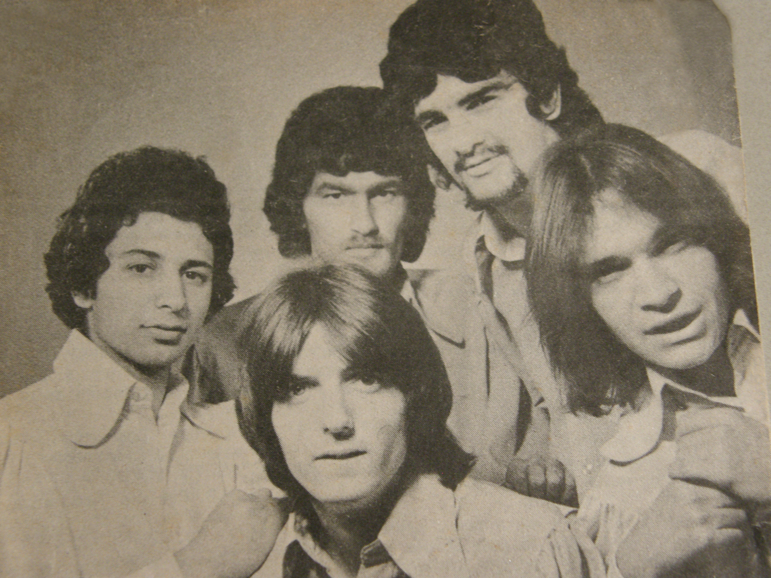 The Truth 1969 (from left) Jimmy Squadrito, Russell Bayne, Bob Lounder, Barry Dean, George Kent.
