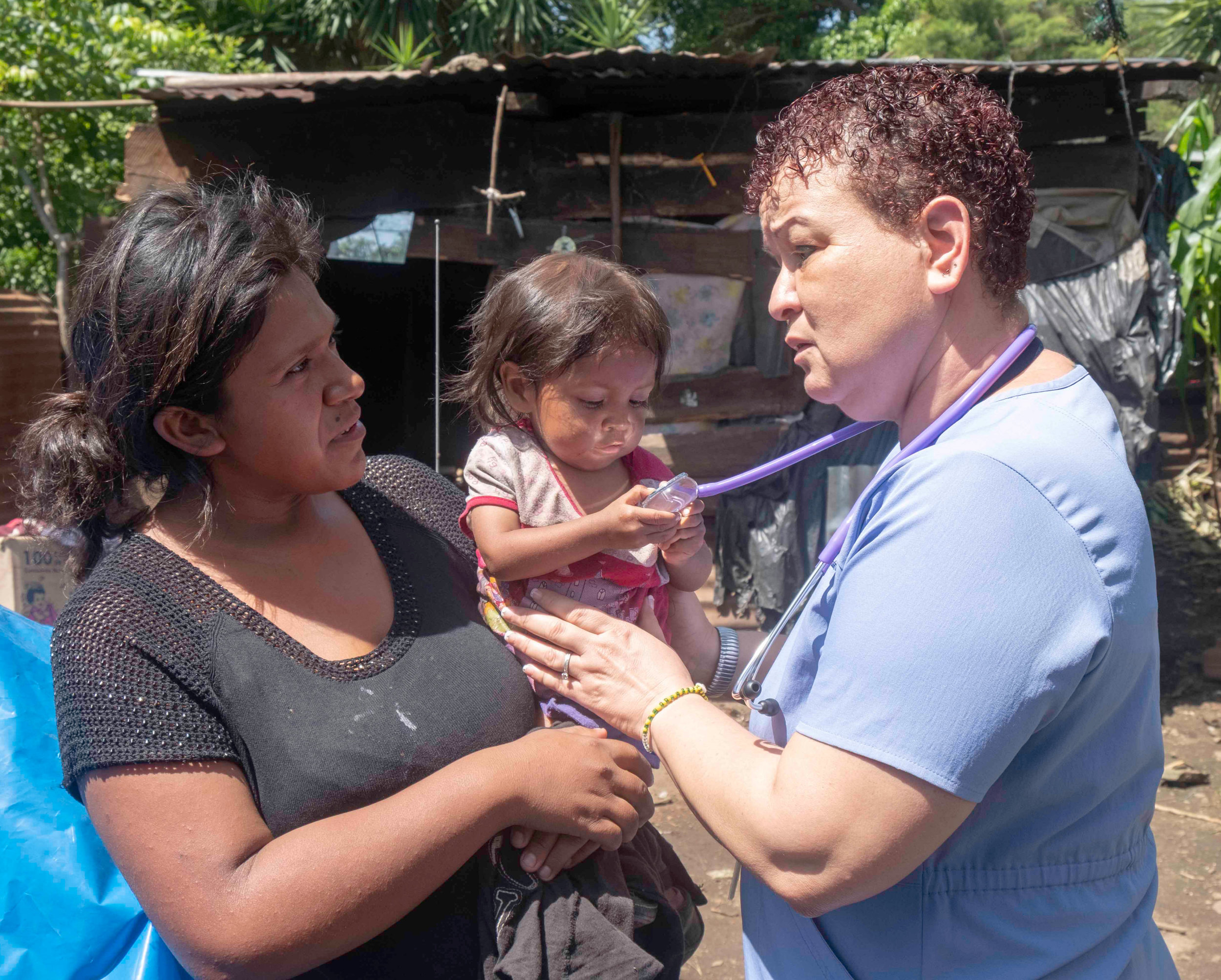 CHILD RECEIVING MEDICAL CARE IN GUATEMALA AS PART OF MAP'S BRINGING CHILDREN HEALTH PROGRAM