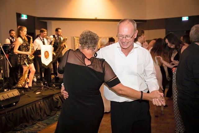 This has got to be one of our favourite photos ever 🙌 Taken around five years ago now, this was a private function where we had people of all ages dancing to our music! Love it. ⠀ ⠀ Click the link in our bio to get tickets to our next public performance on 29th June! #twocentpros