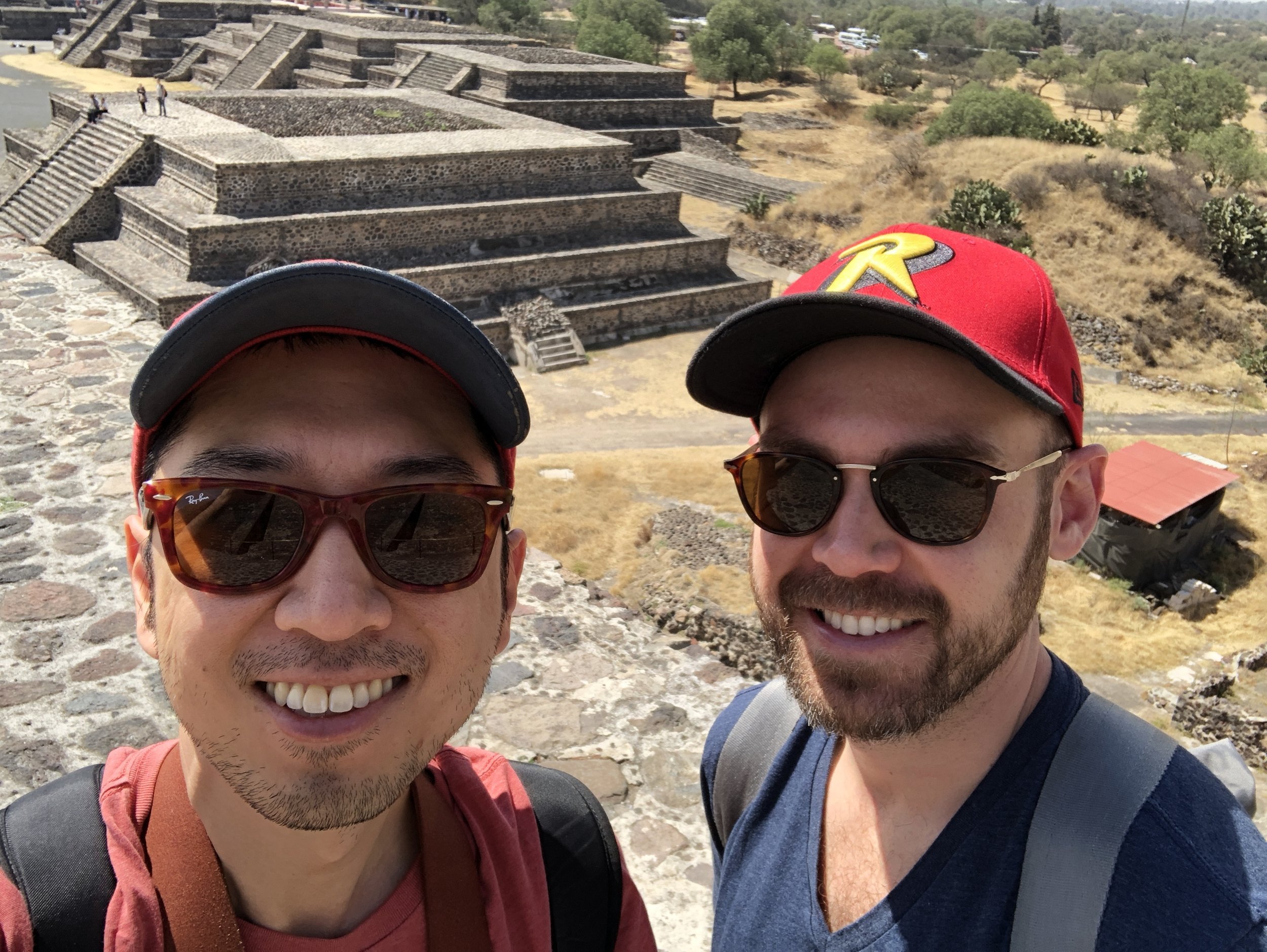 At the pyramids of Teotihuacan in Mexico