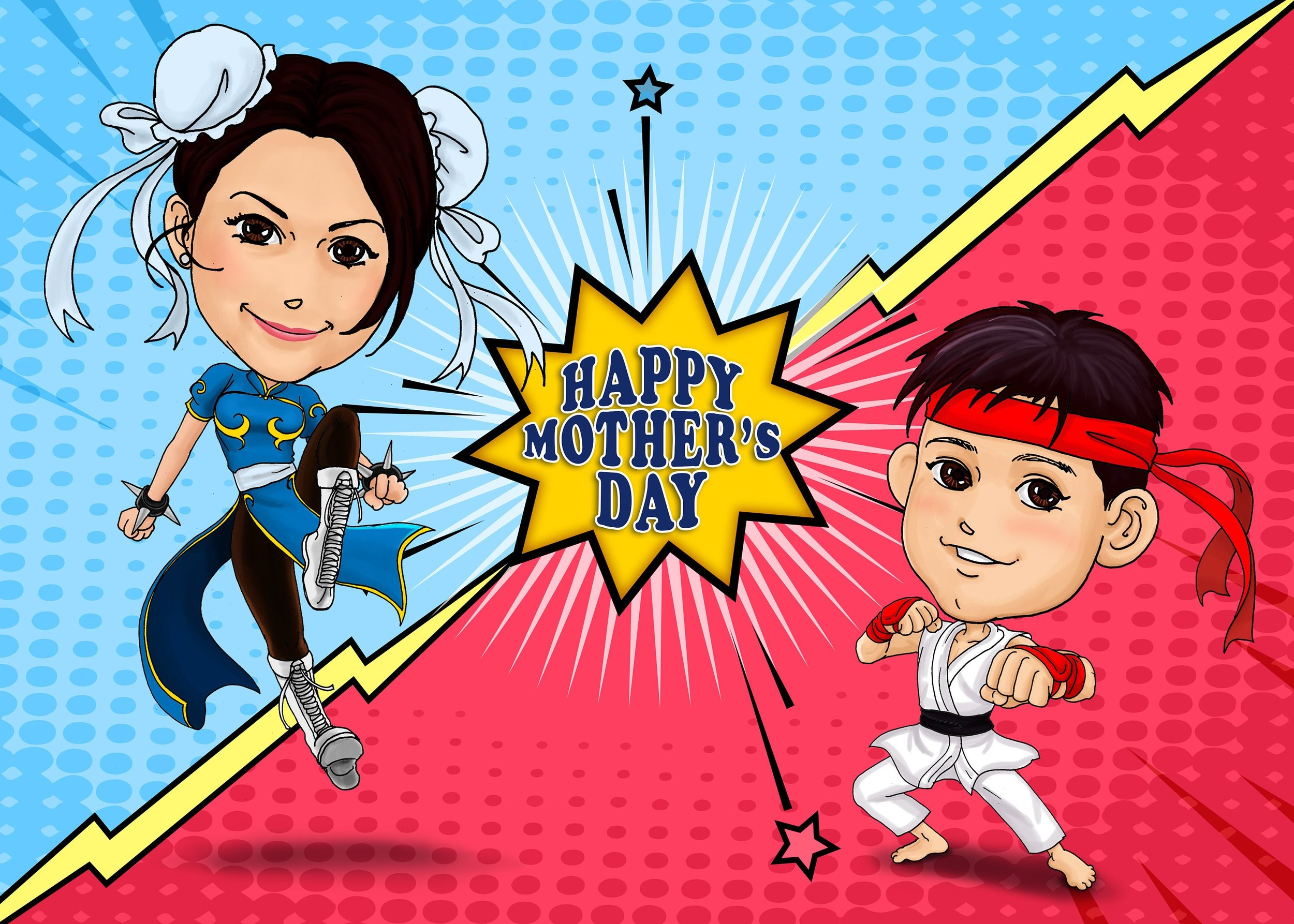 Mother's Day Perfect Gift for Mom - Street Fighter Theme Customized