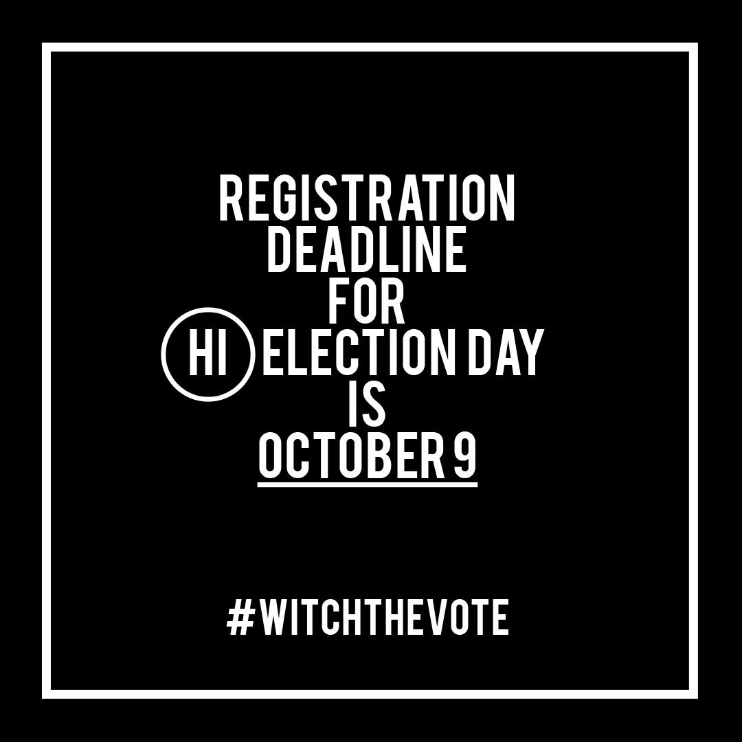 Hawaii Voter Registration Deadline