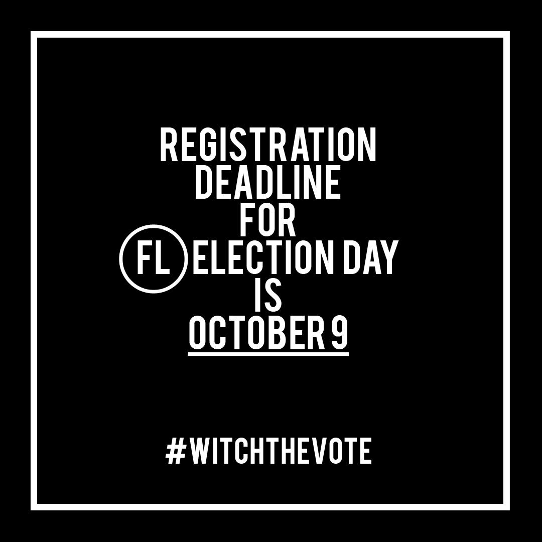 Florida Voter Registration Deadline