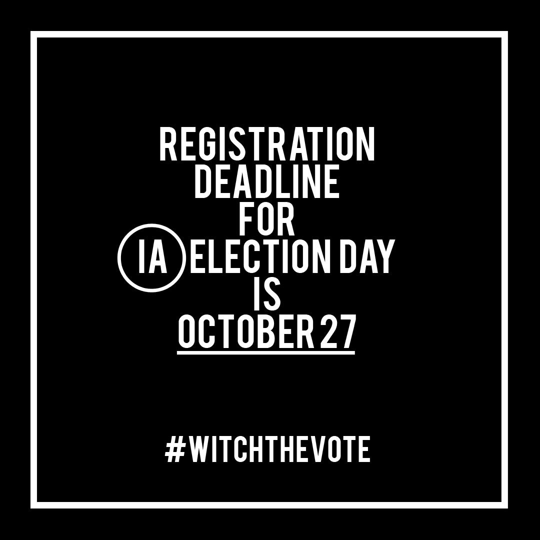 Iowa Voter Registration Deadline