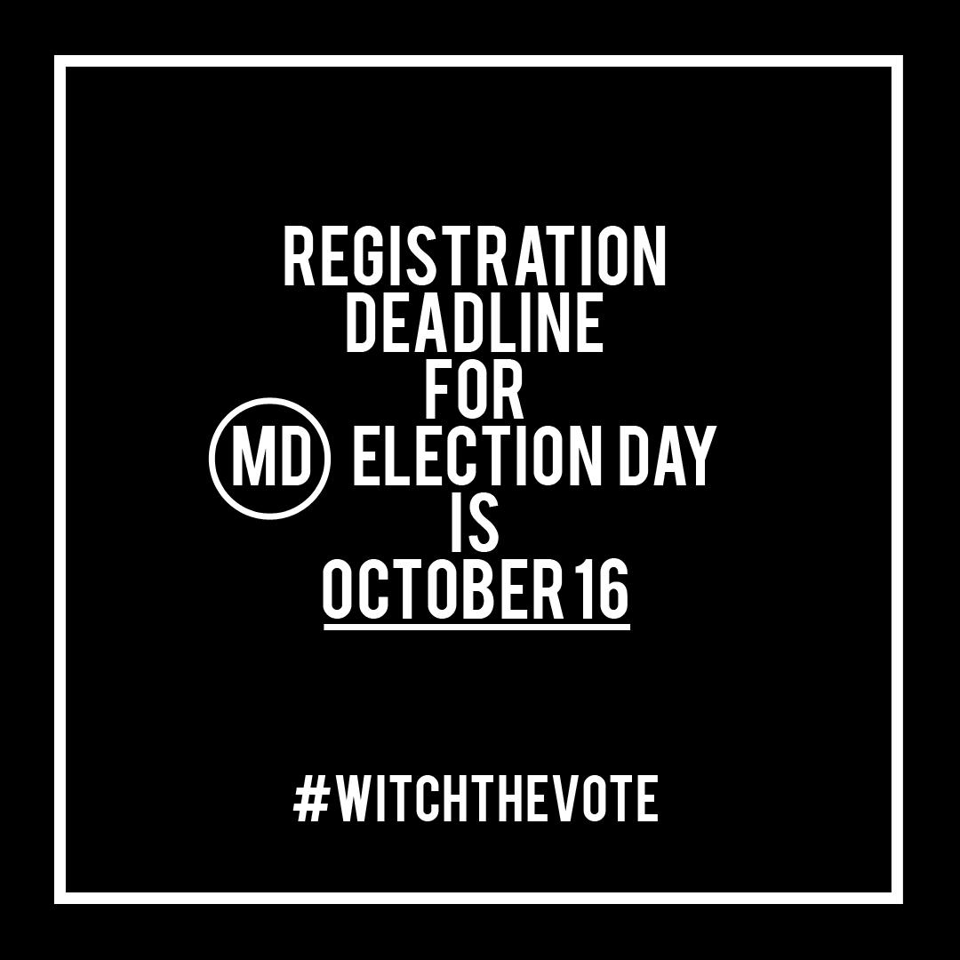 Maryland Voter Registration Deadline