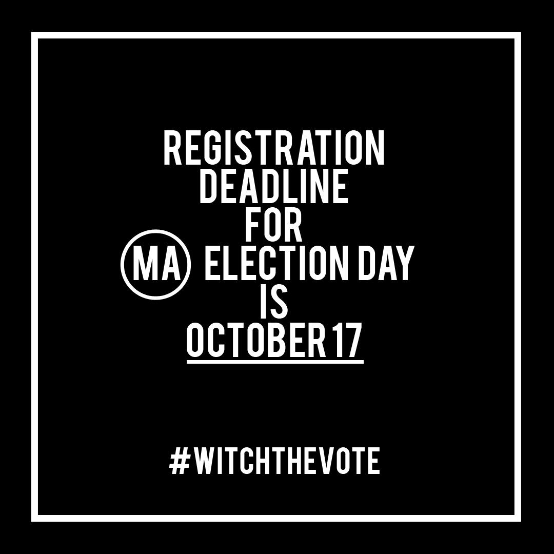 Massachusetts Voter Registration Deadline