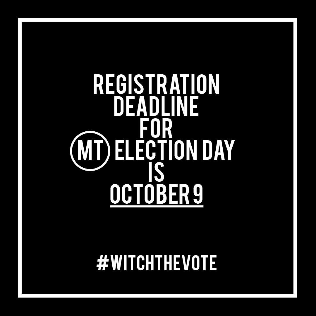 Montana Voter Registration Deadline