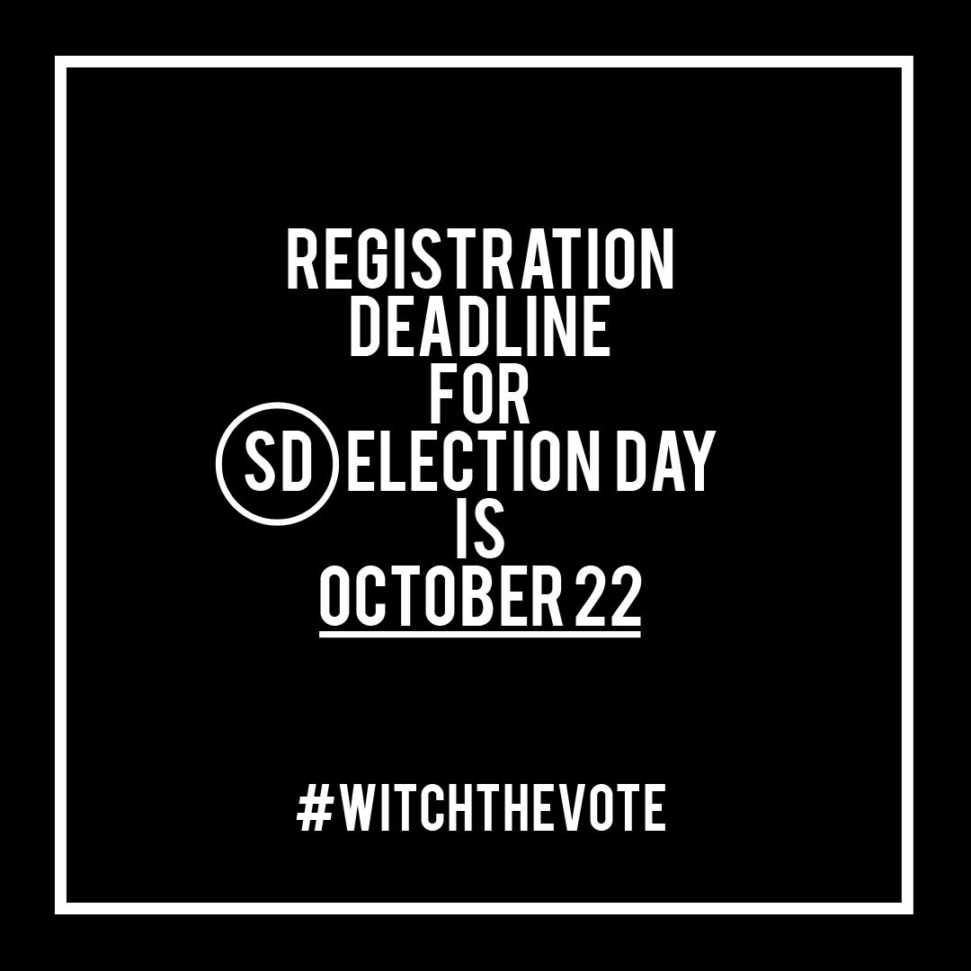 South Dakota Voter Registration Deadline