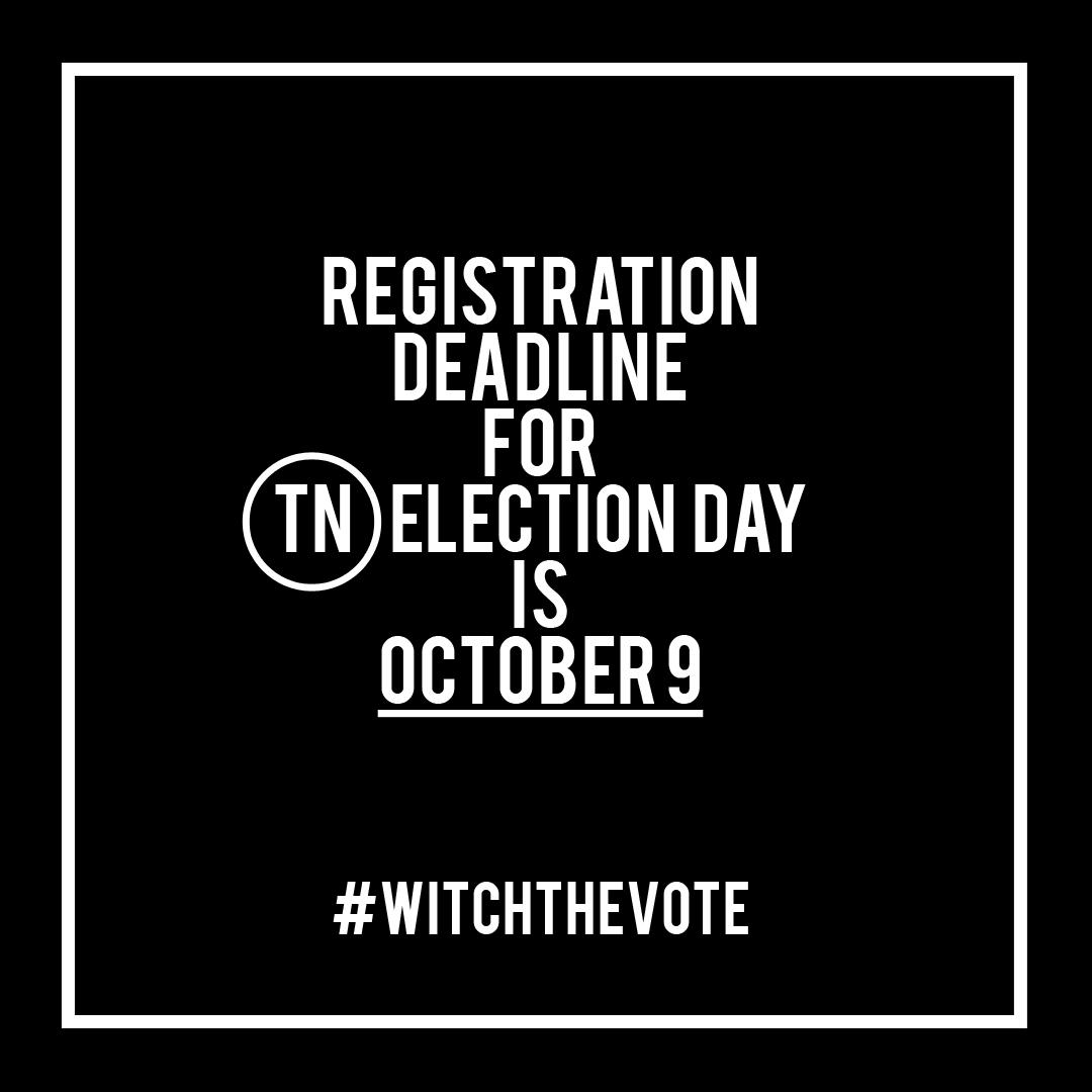 Tennessee Voter Registration Deadline