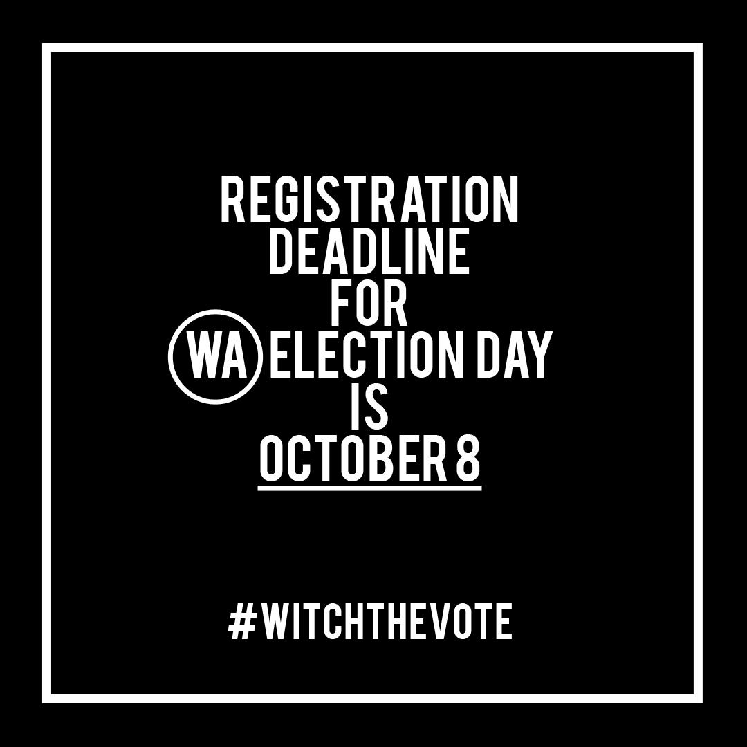 Washington Voter Registration Deadline