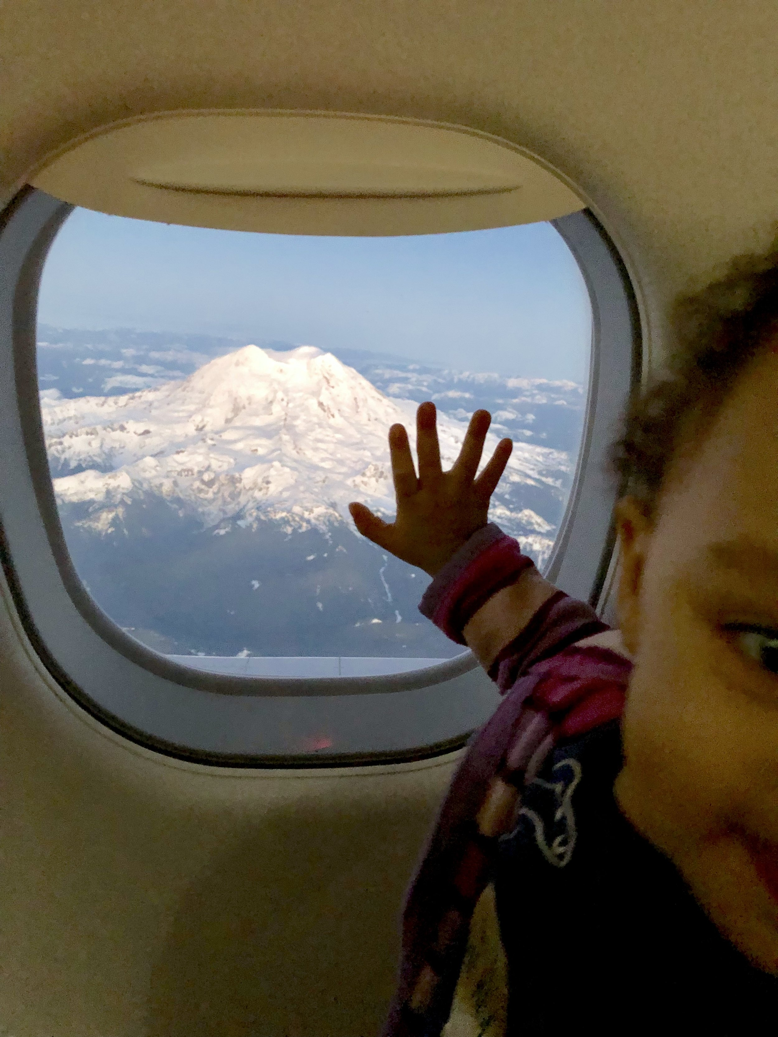 Miah sees Mount Rainer for the first time.