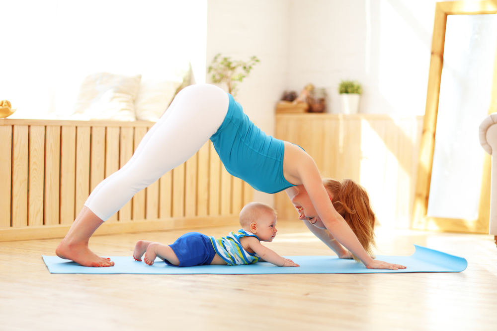 MUM & BABY YOGA  Mum and Baby Yoga is a wonderful, shared experience for both parent and baby, encouraging early bonding.   View classes