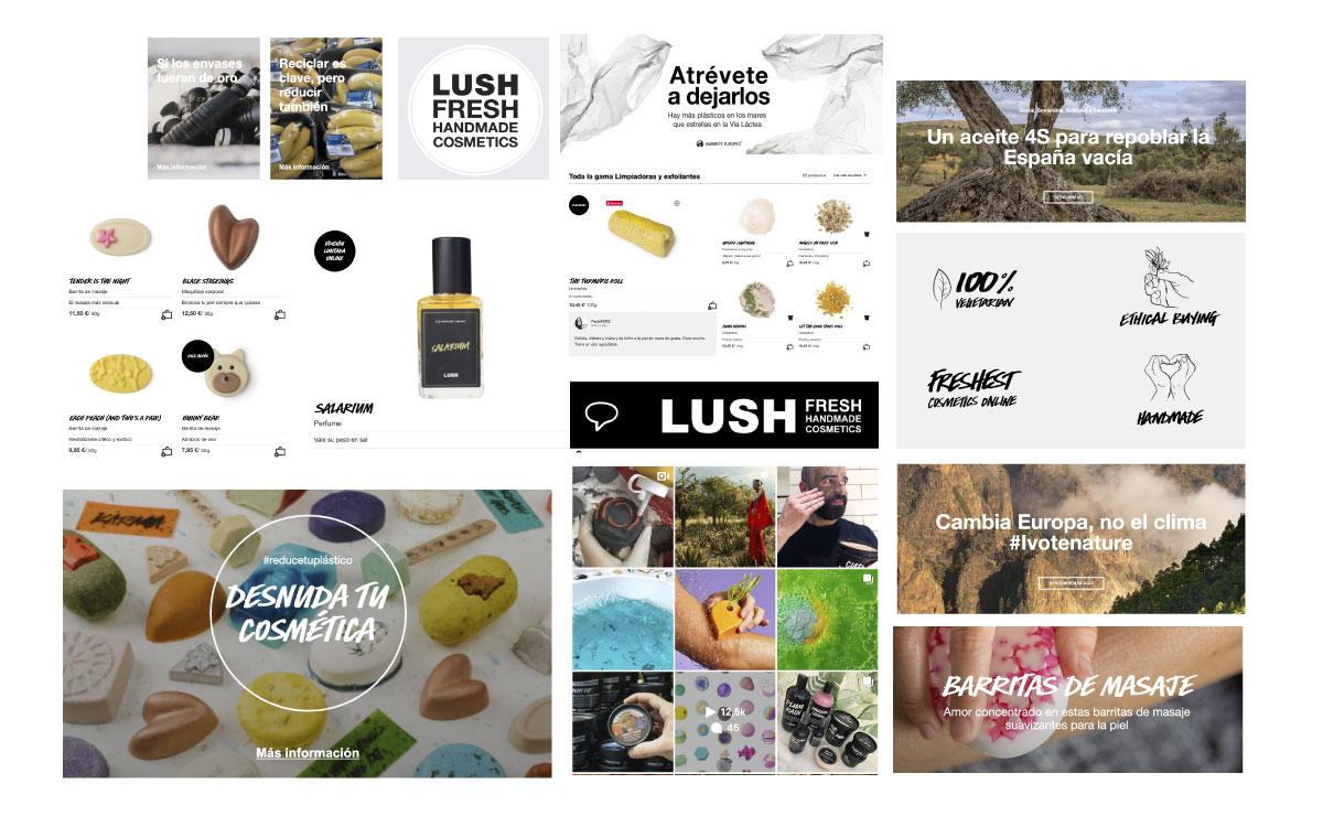 imagen de marca sostenible Lush