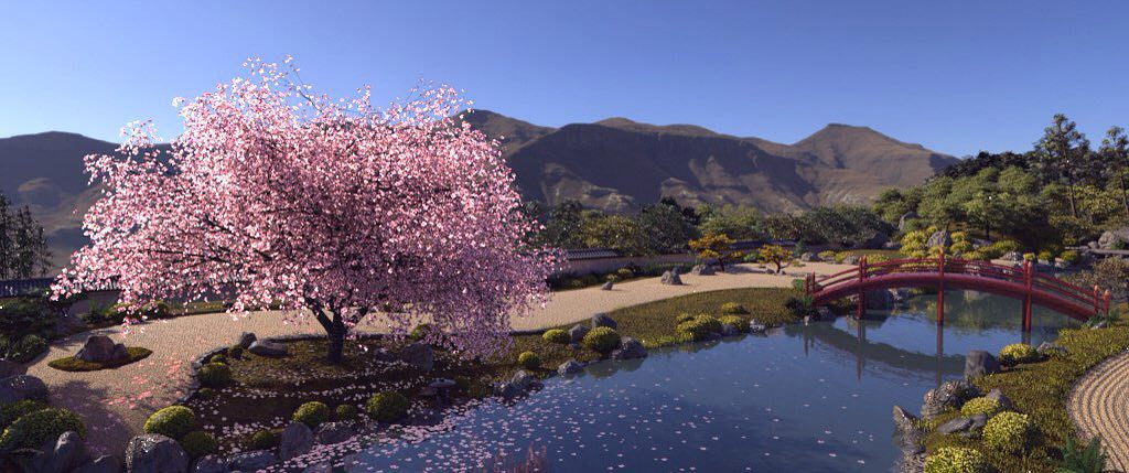 CG Environment - Sakura Garden