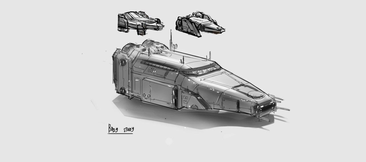 Concept Art - Alien Ship