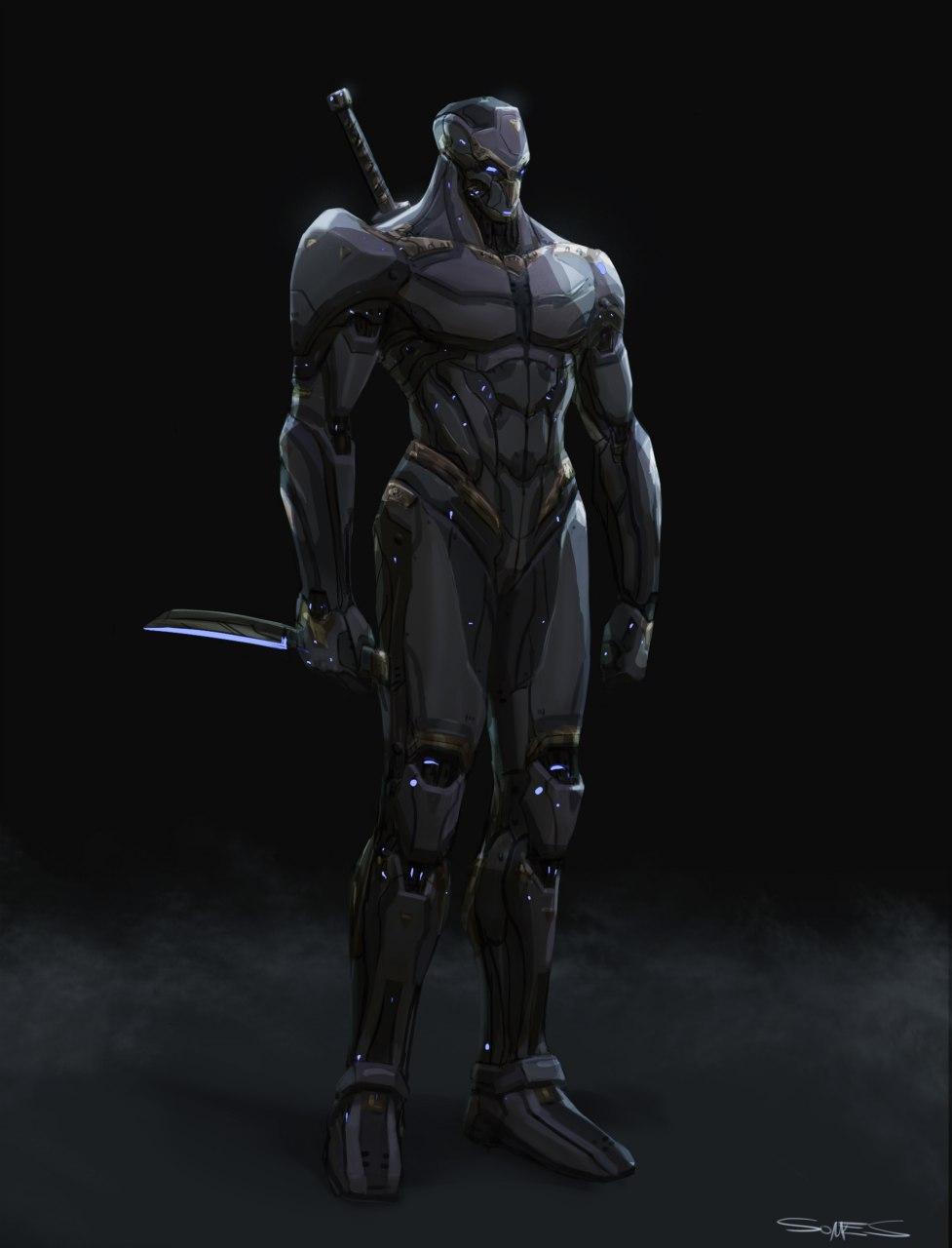 Concept Art - Cyborg Ninja