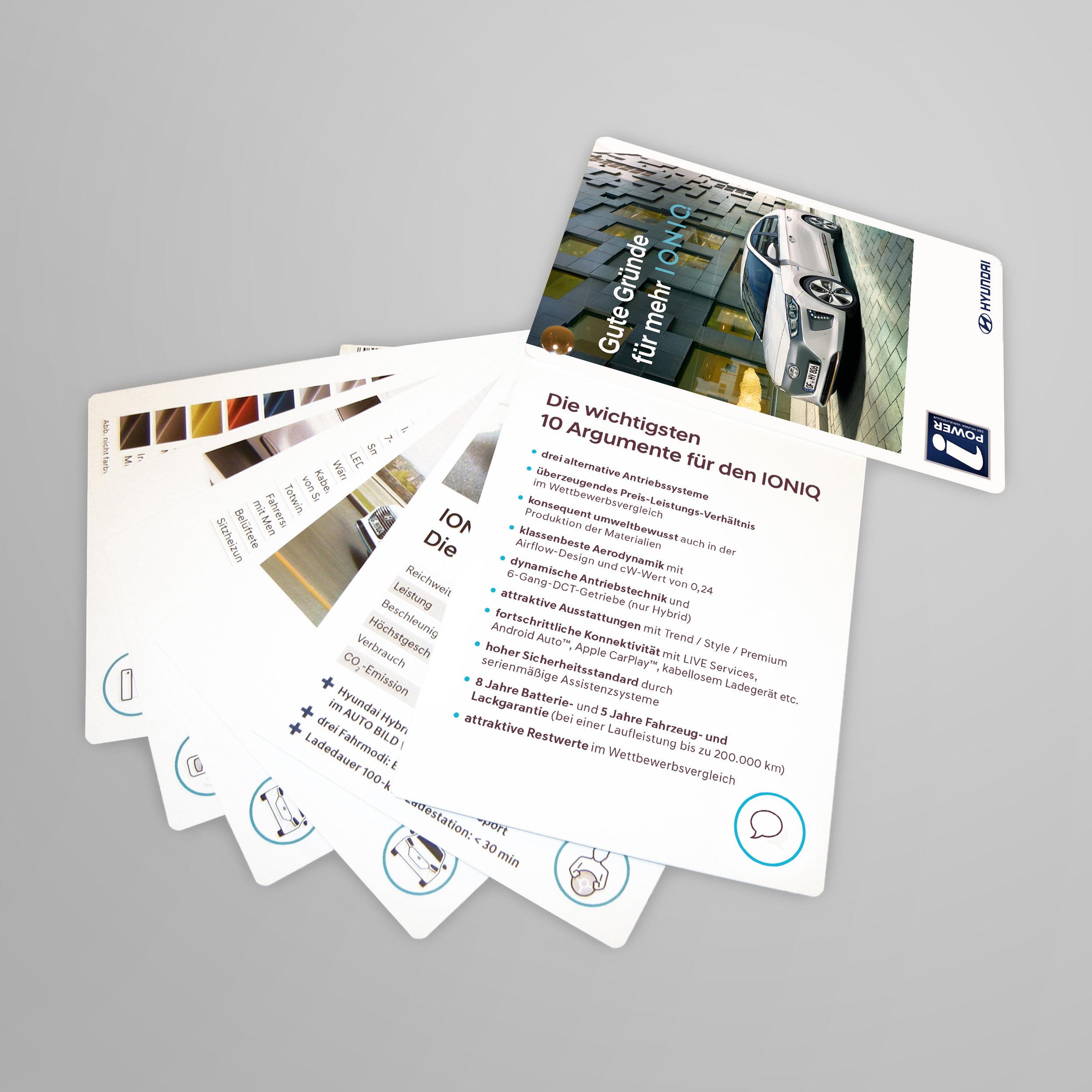 Verkäufer-Salesguide für neue Hybrid- und Elektro-Modelle.