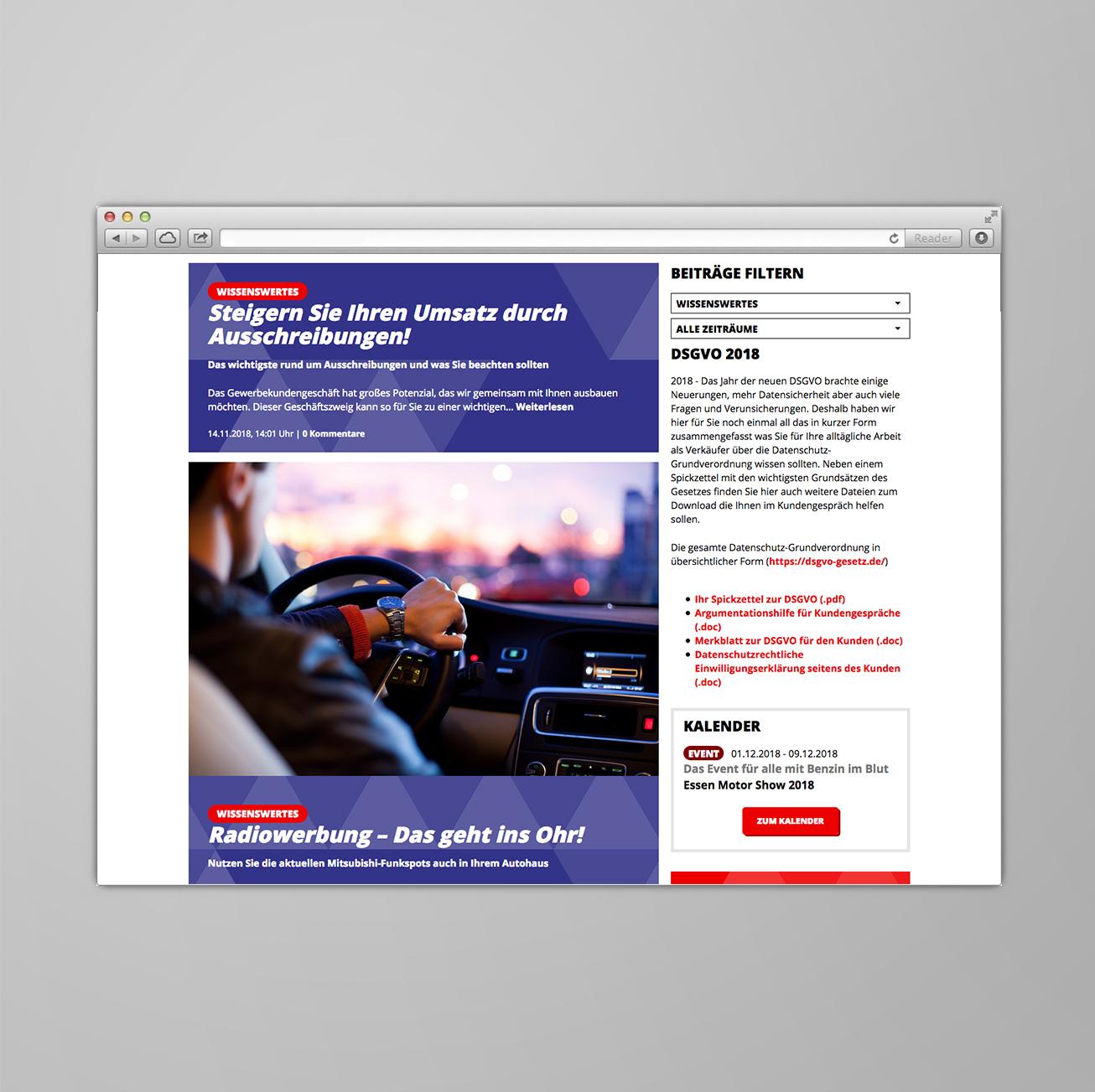Presseclipping auf Club-Webseite.