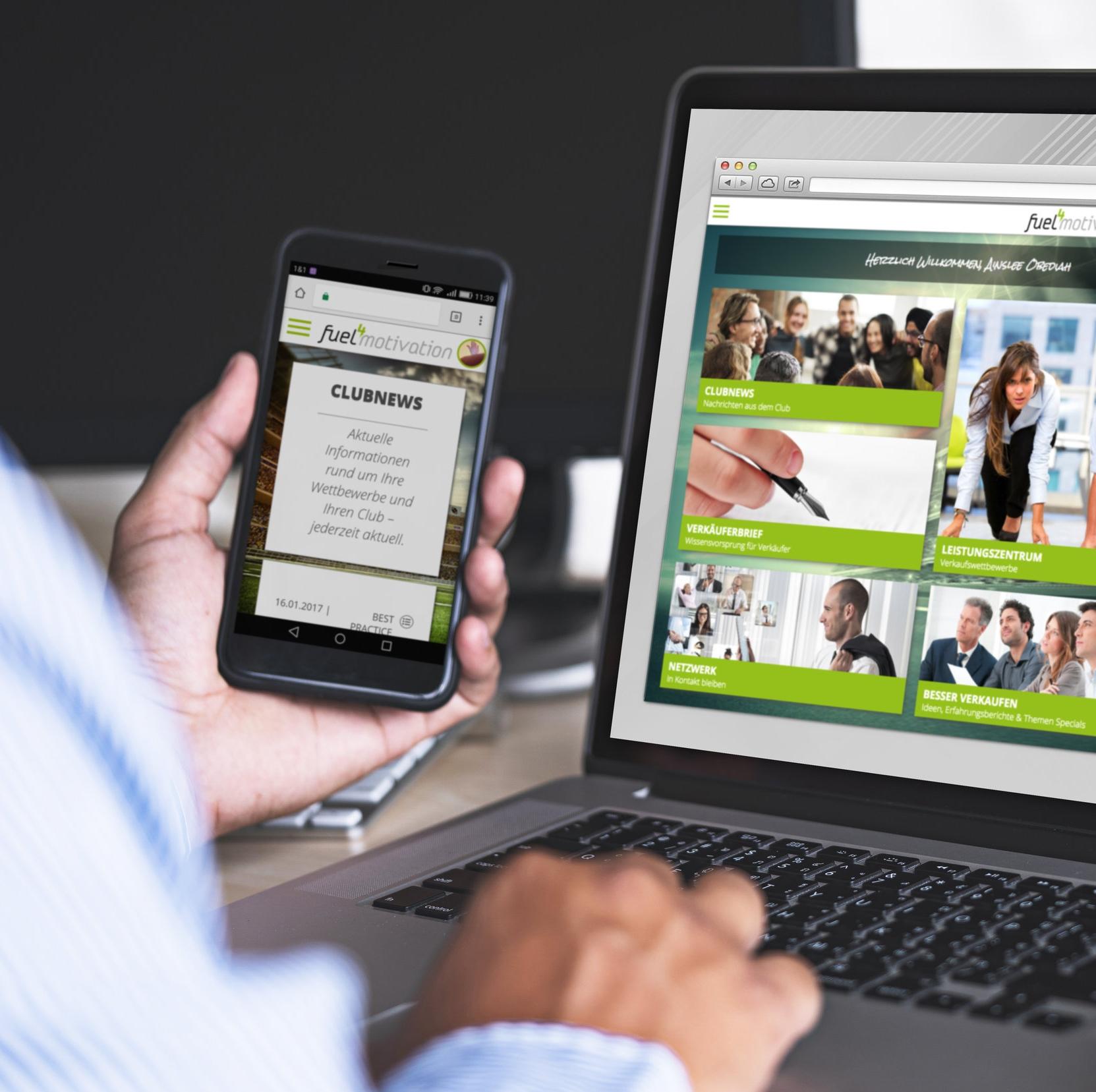 Die Fuel4 Motivation-App bietet einen umfassenden Informationsaustausch.