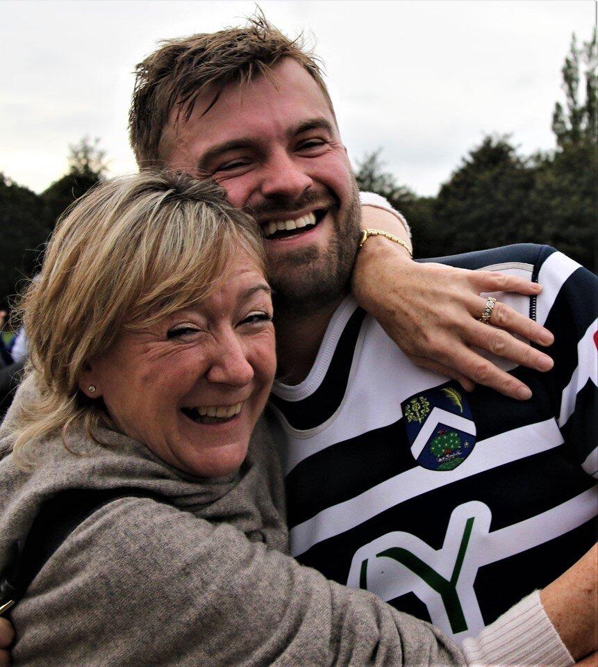 Captain CJ gets a congratulatory hug!