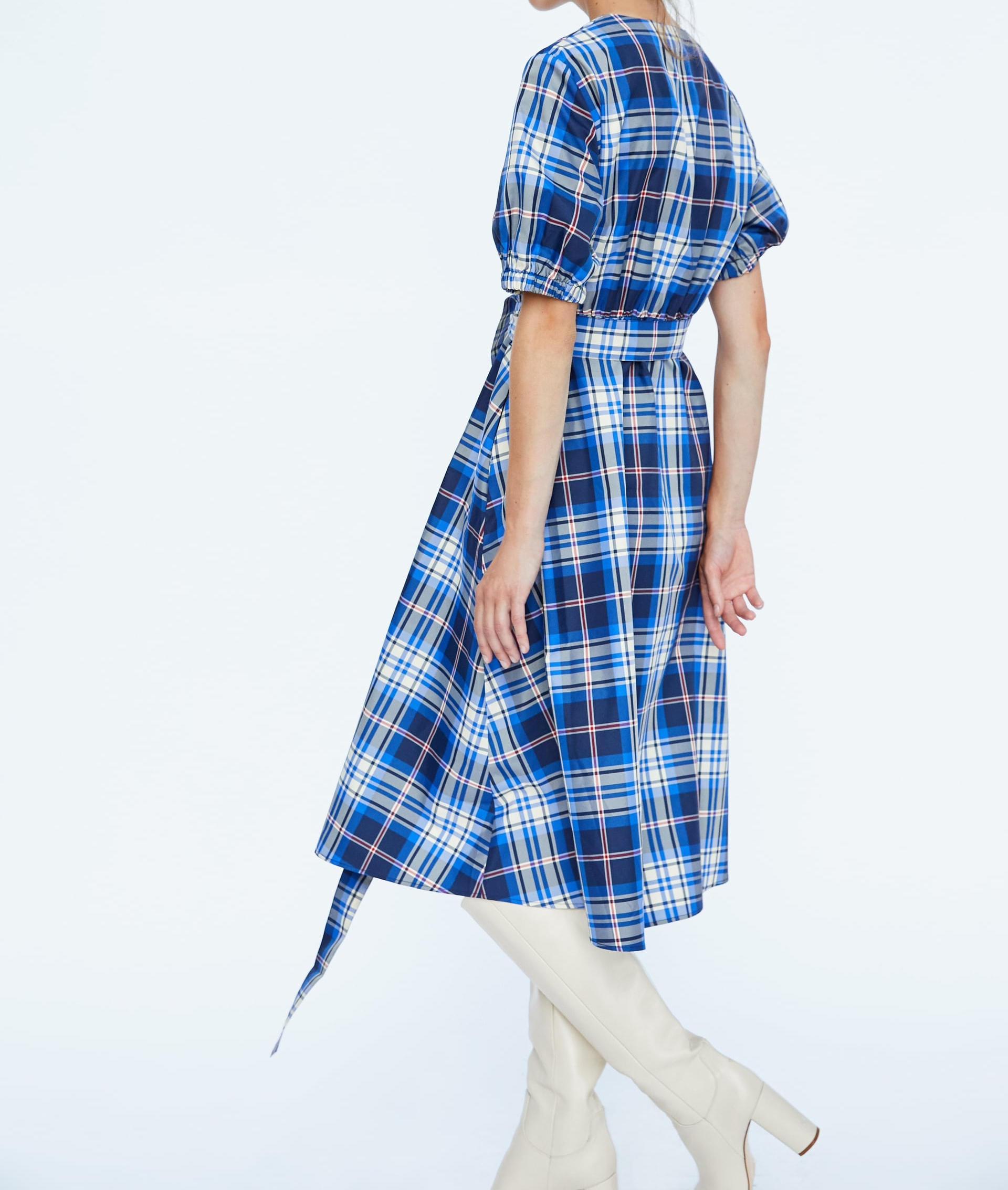 Zara Plaid Taffeta Dress