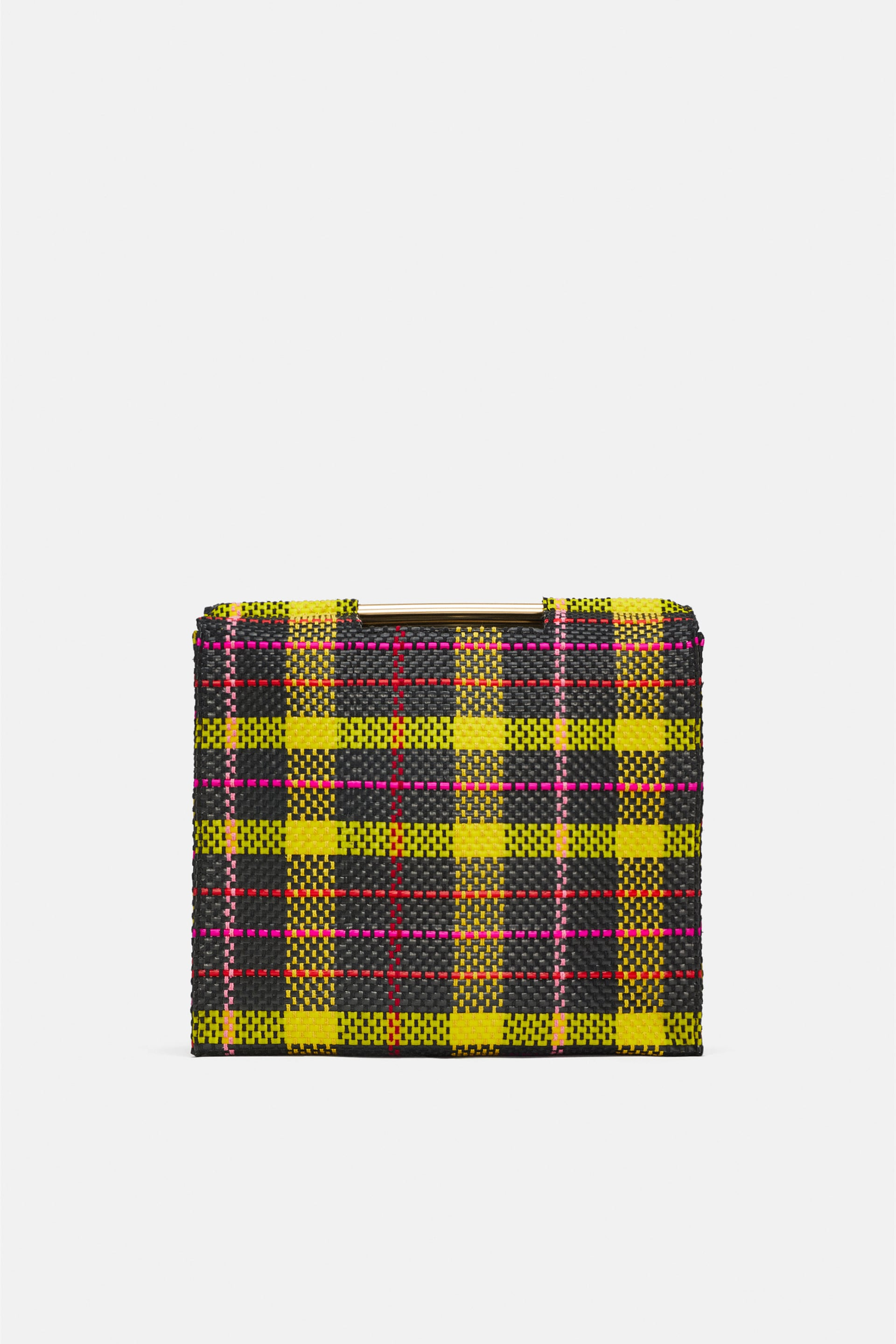 Plaid Print Shopper Bag