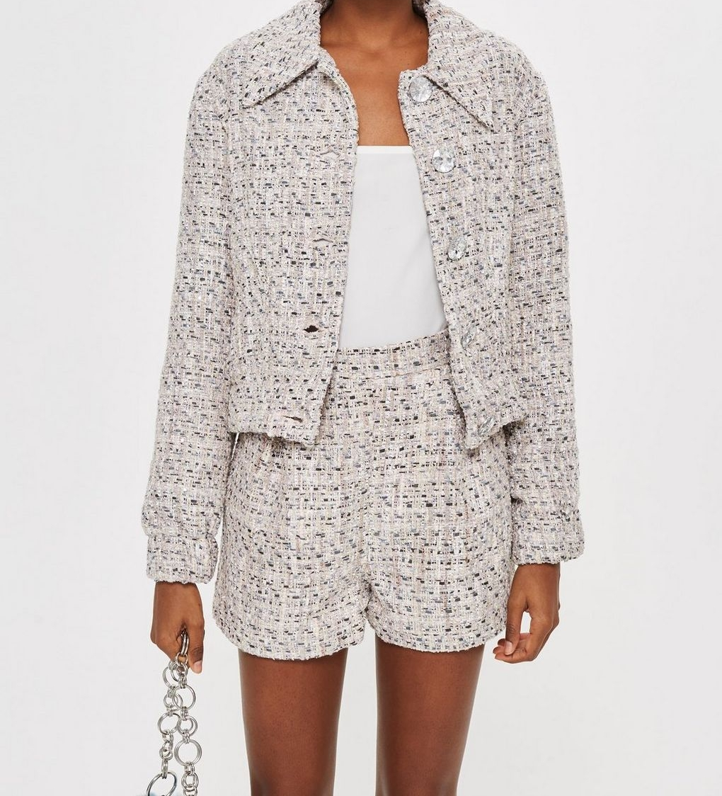 Tweed Shorts Set