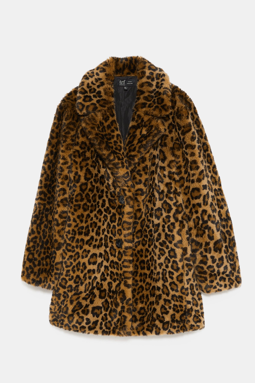 Zara Faux Fur Leopard Print
