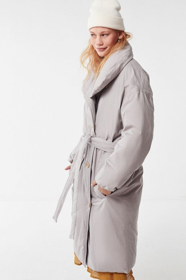 Belted Puffer Trench