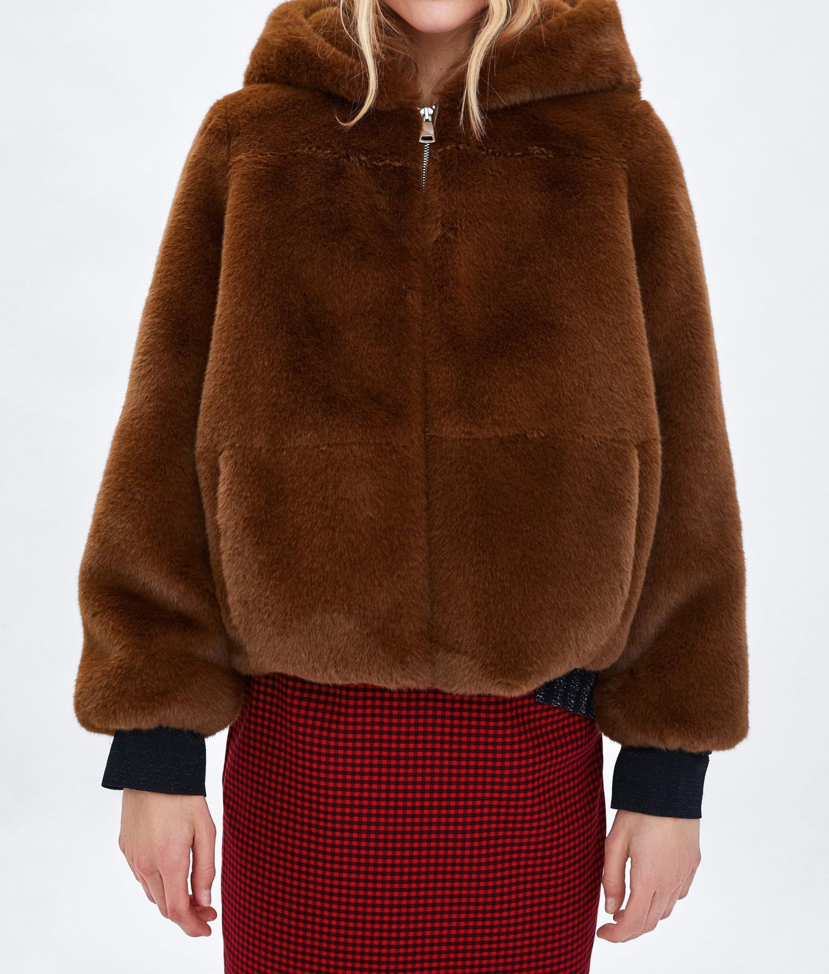 Brownin' Hooded Faux