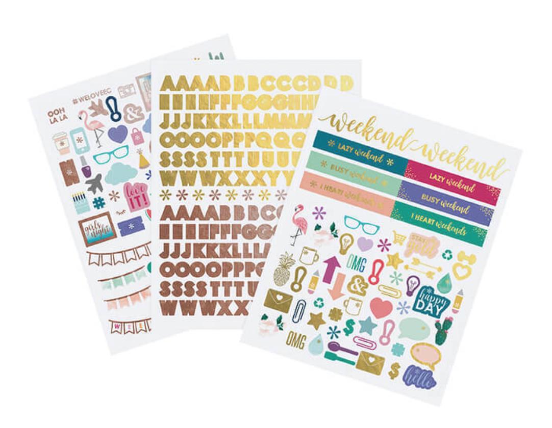 Alphabet and Illustrations Sticker Pack