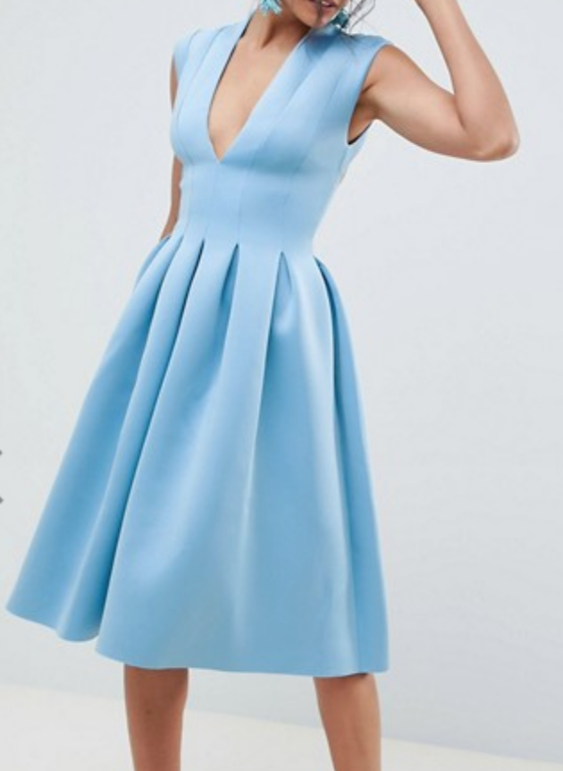 Asos Design Scuba Seam Dress
