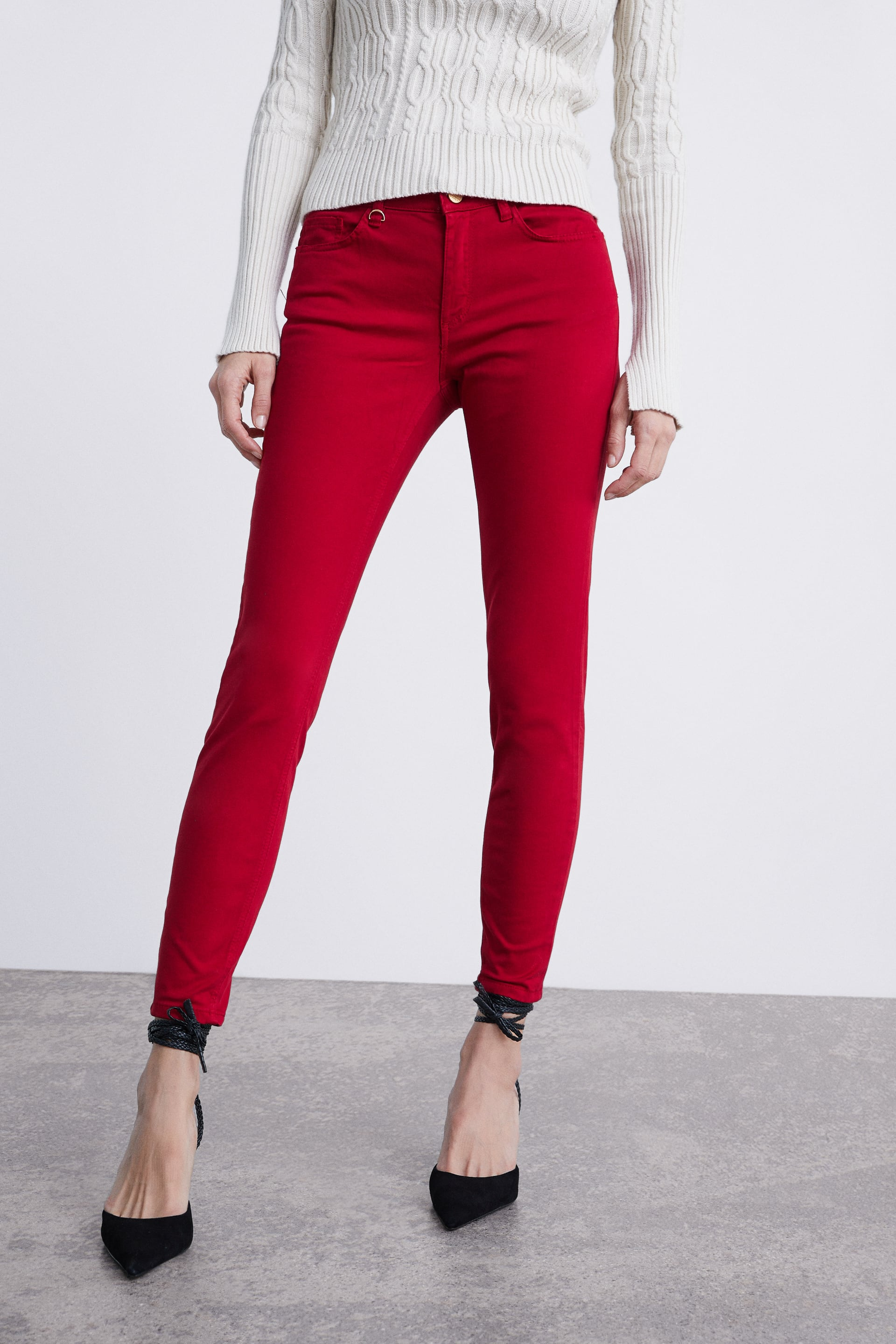Colored Satin Finish Jeans