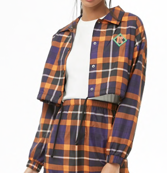 Plaid Cropped Jacket