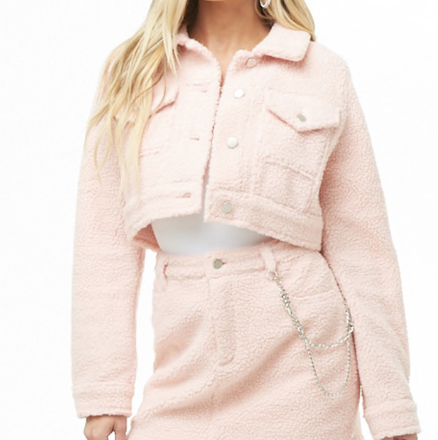 Faux Shearling Crop Jacket