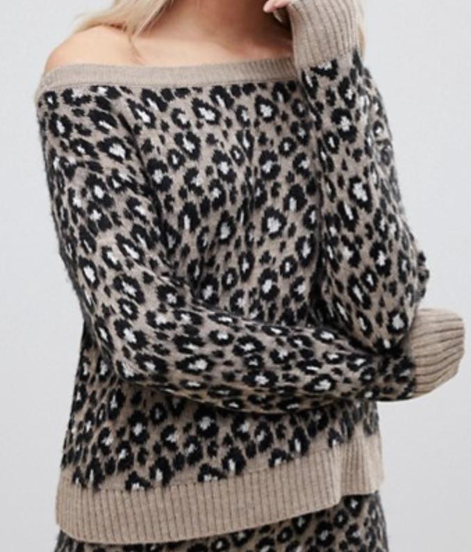 Leopard Sweater Top