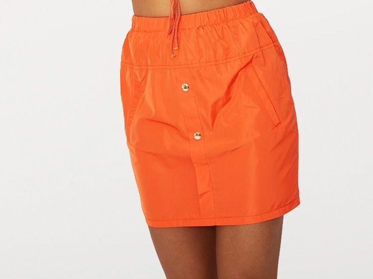 Orange Shell Mini Skirt