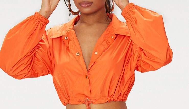 Orange Shell Suit Jacket