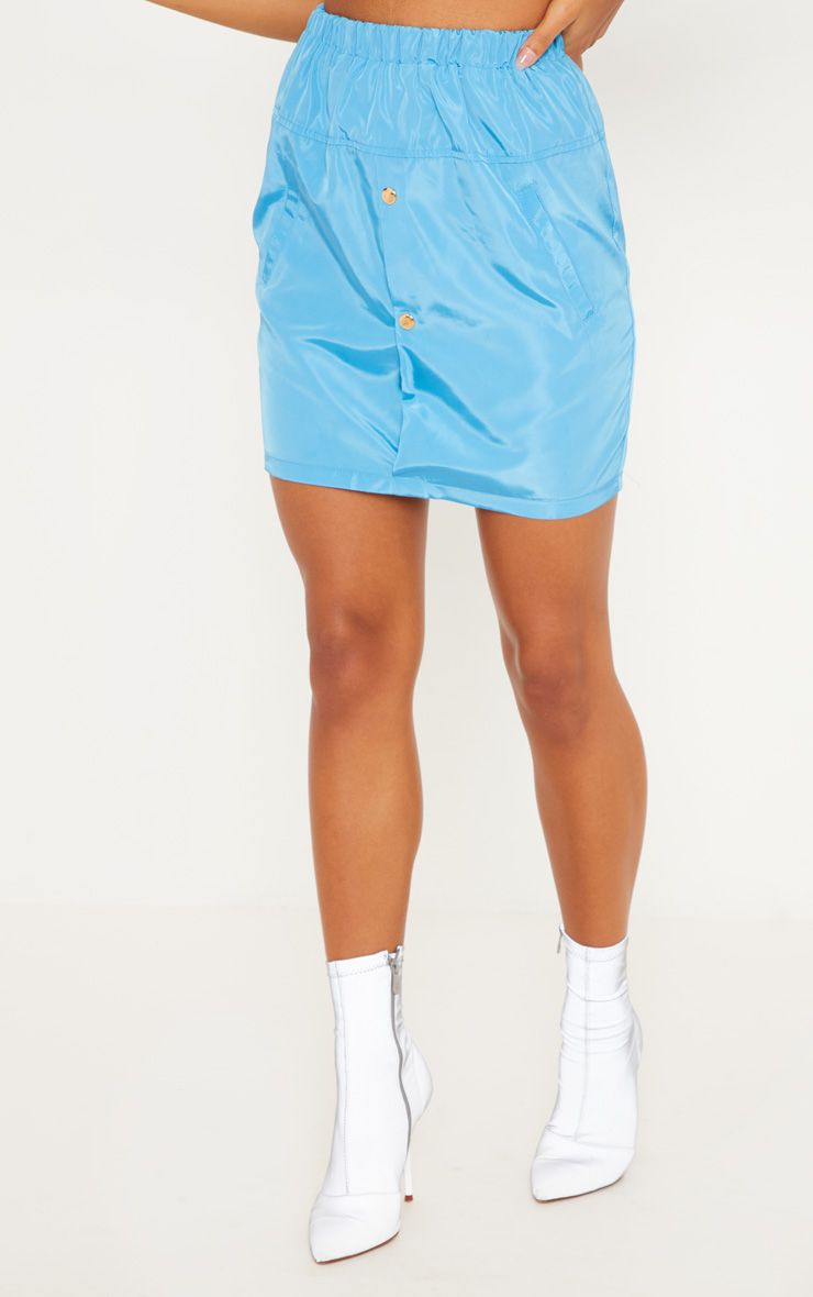 Blue Shell Mini Skirt