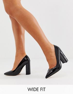 Wide Fit Heeled Shoes