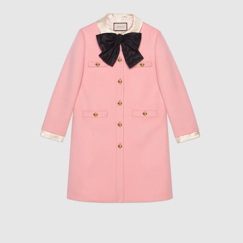 Gucci Wool Coat with Bow